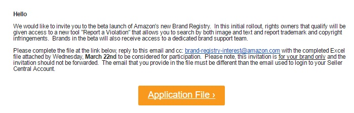 new amazon brand registry
